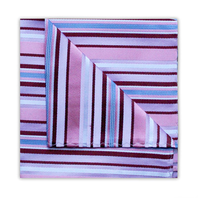 PINK/LILAC DIAGONAL STRIPE SQUARE-0