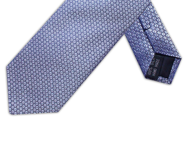 Silver Geometric Tie