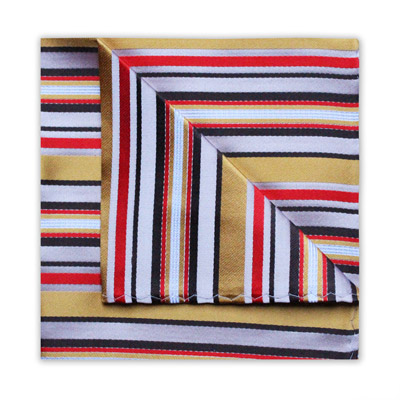 RED/GOLD STRIPE SQUARE-0