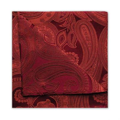 RED/ORANGE PAISLEY SQUARE