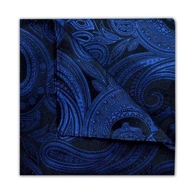 ROYAL BLUE/BLACK PAISLEY SQUARE-0