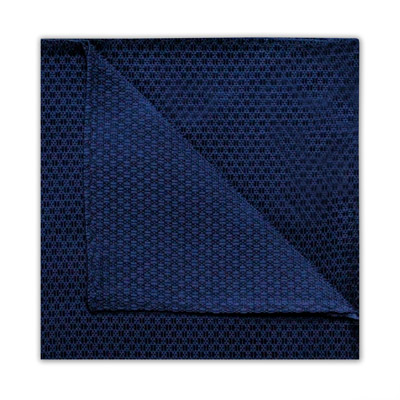 NAVY GEOMETRIC SQUARE-0
