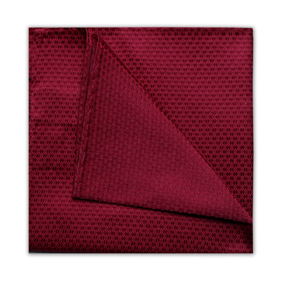 BURGUNDY GEOMETRIC SQUARE-0
