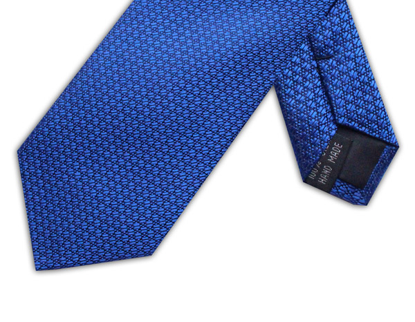 ROYAL BLUE GEOMETRIC TIE