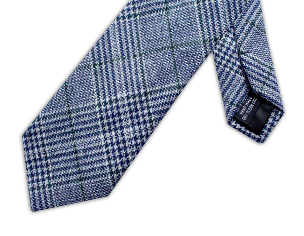 NAVY/GREEN PRINCE OF WALES CHECK TIE