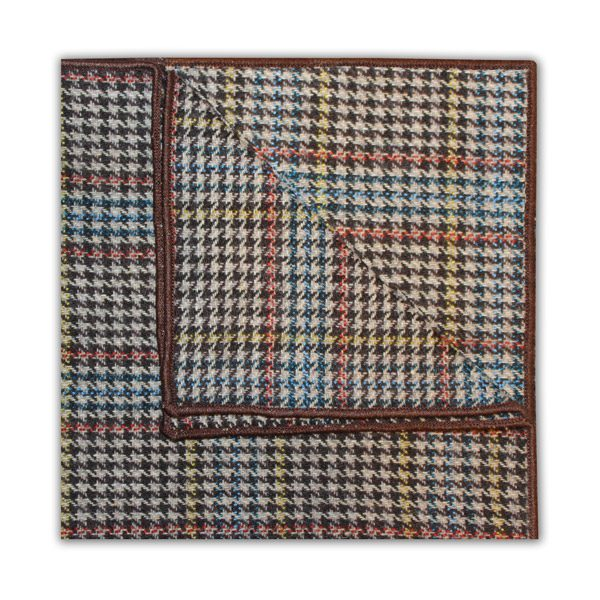 BLUE/ORANGE/YELLOW PRINCE OF WALES CHECK SQUARE-0