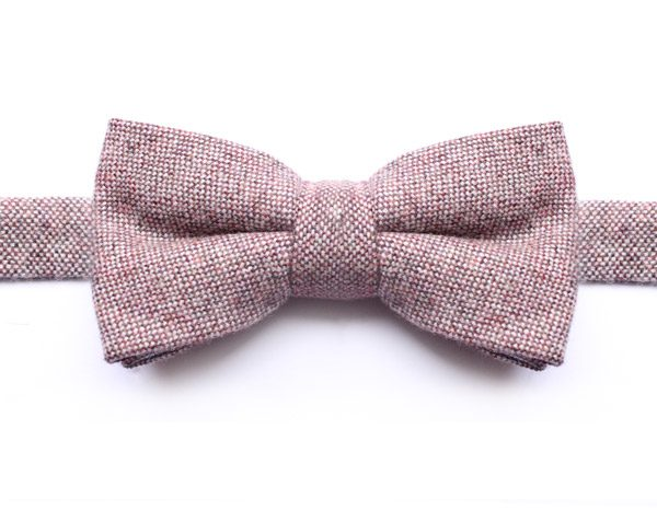 SPECKLED SOFT PINK BOW TIE-0