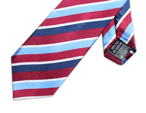 BURGUNDY/BLUE STRIPE TIE-0