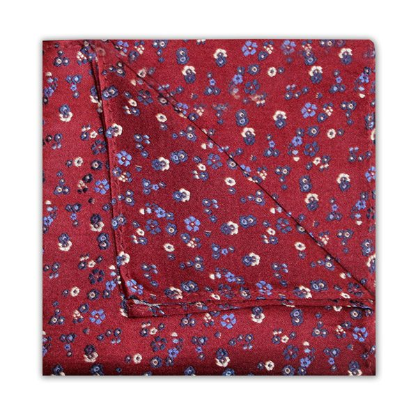BURGUNDY/BLUE/WHITE FLORAL SQUARE-0