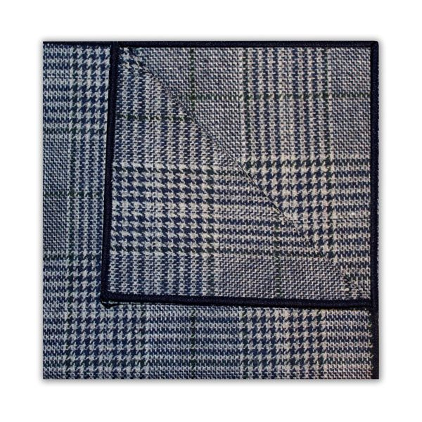 NAVY/GREEN PRINCE OF WALES CHECK SQUARE-0