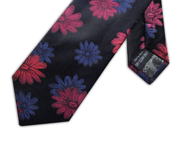 BLACK/PINK/BLUE FLORAL XL TIE-0