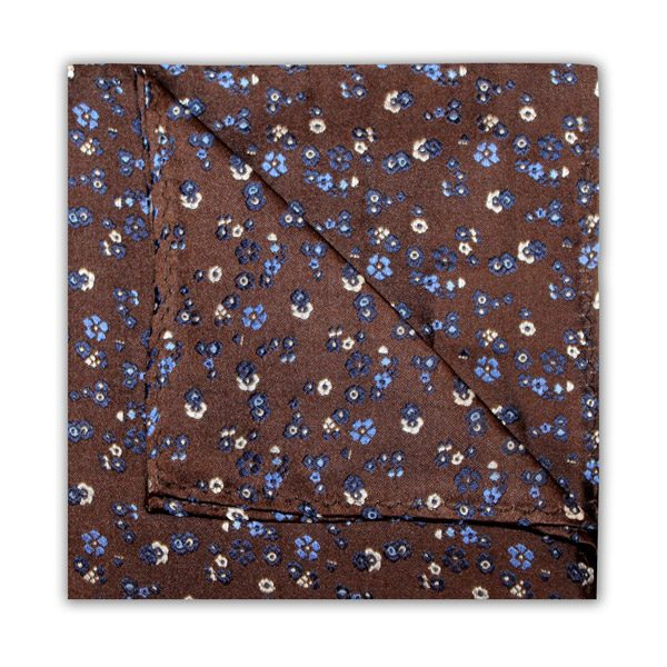 BROWN/BLUE/WHITE FLORAL SQUARE-0