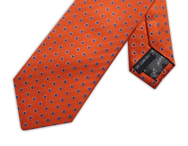 ORANGE/BLUE POLKA DOT XL TIE-0