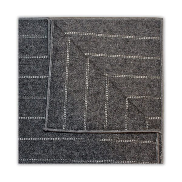 GREY/WHITE DIAGONAL STRIPE SQUARE-0