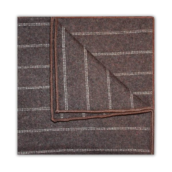 BROWN/WHITE DIAGONAL STRIPE SQUARE-0