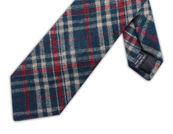 NAVY/RED/BEIGE CHECK TIE-0