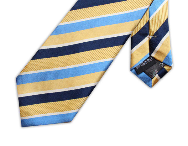 YELLOW/BLUE STRIPE TIE-0
