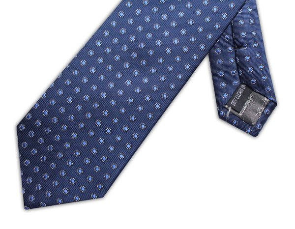 NAVY/BLUE POLKA DOT XL TIE-0