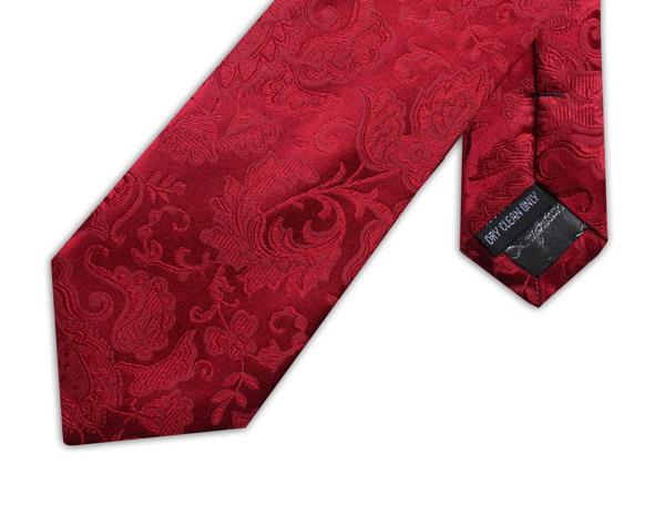 RUBY RED FLORAL TIE