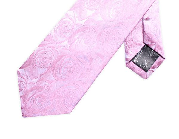 BABY PINK ROSE EFFECT XL TIE-0
