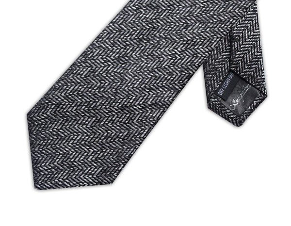 GREY/BLACK ZIG-ZAG XL TIE-0