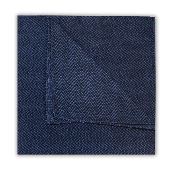 BLUE HERRINGBONE SQUARE-0