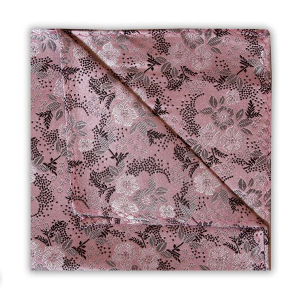 SOFT PINK/WHITE/BLACK FLORAL SQUARE-0