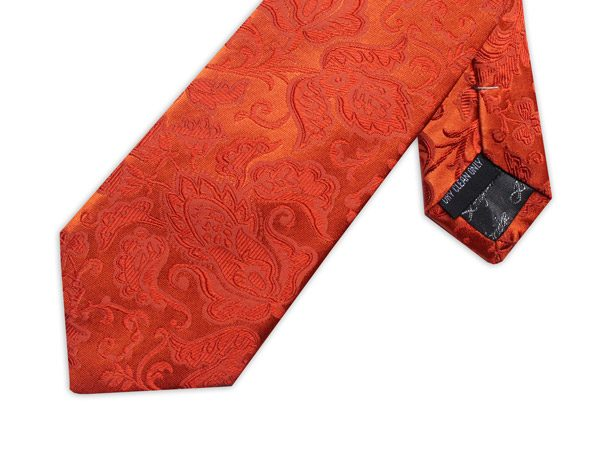 ORANGE FLORAL XL TIE-0