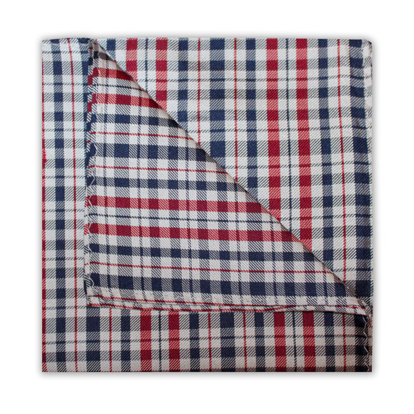 NAVY/RED/WHITE CHECK SQUARE