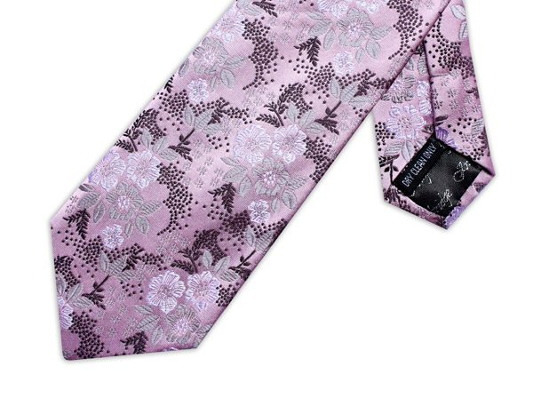 SOFT PINK/WHITE/BLACK FLORAL XL TIE-0