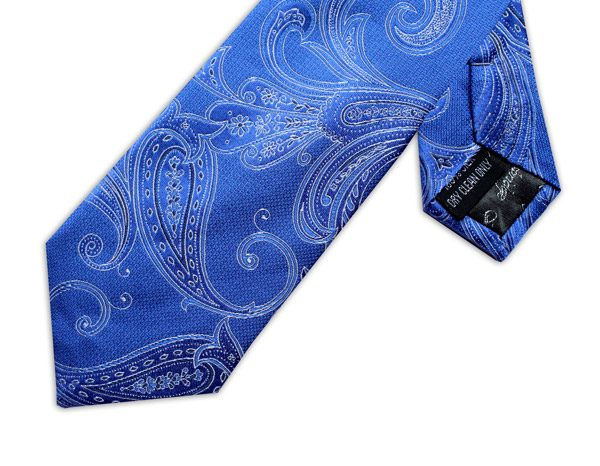 ROYAL BLUE FLORAL XL TIE-0