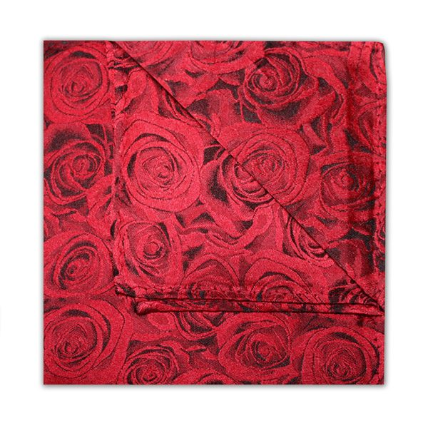 RUBY RED ROSE EFFECT SQUARE-0