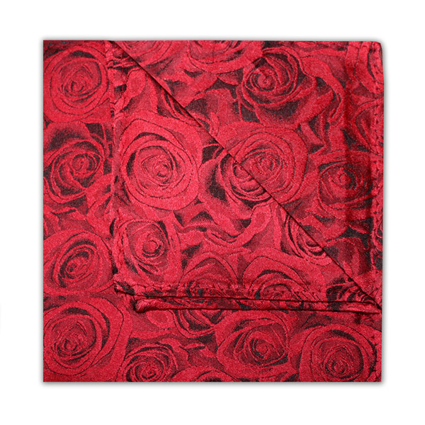 RUBY RED ROSE EFFECT SQUARE