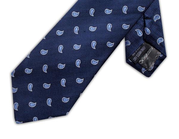 NAVY/BLUE POLKA DOT PAISLEY XL TIE