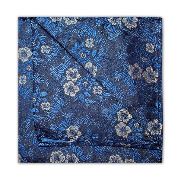 NAVY/WHITE/BLUE FLORAL SQUARE