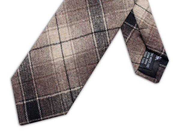 BLACK/BEIGE LARGE CHECK TIE-0