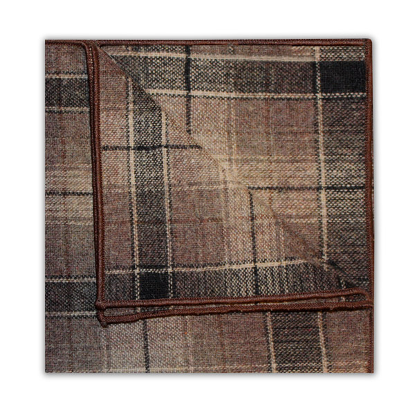 BLACK/BEIGE LARGE CHECK SQUARE