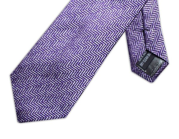 PURPLE/WHITE ZIG-ZAG XL TIE-0
