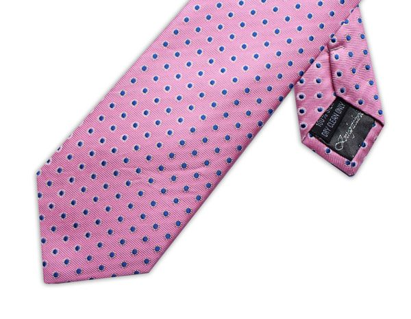 PINK/BLUE POLKA DOT XL TIE-0