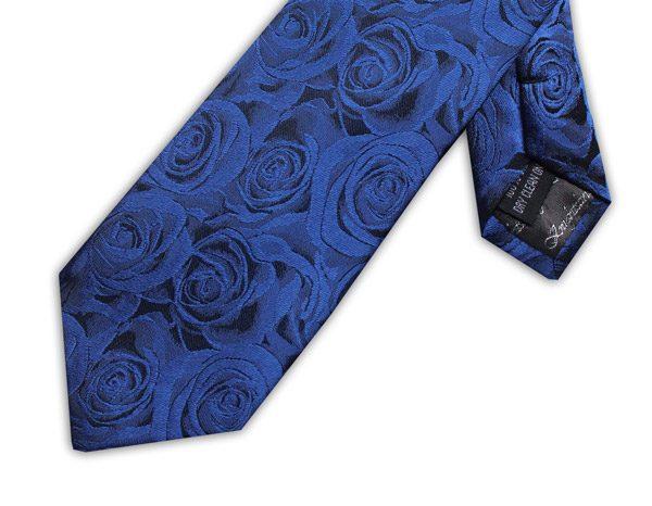 ROYAL BLUE ROSE EFFECT TIE-0