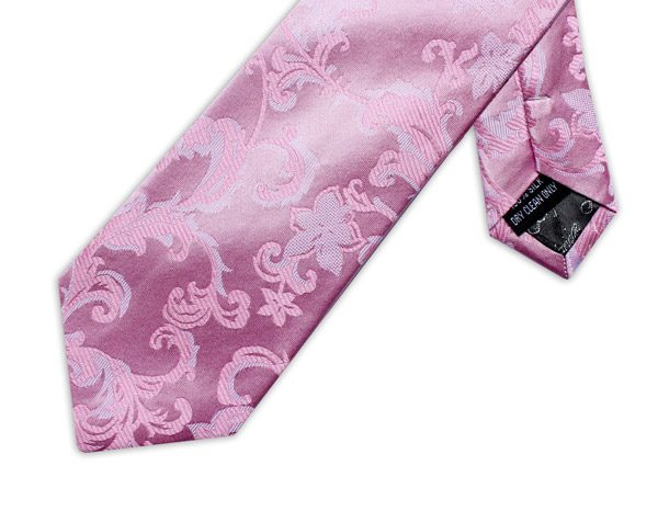 BABY PINK FLORAL XL TIE-0