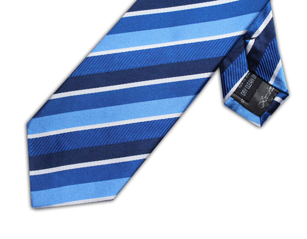NAVY/BLUE/WHITE STRIPE TIE