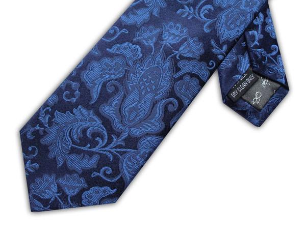 NAVY/BLUE FLORAL TIE