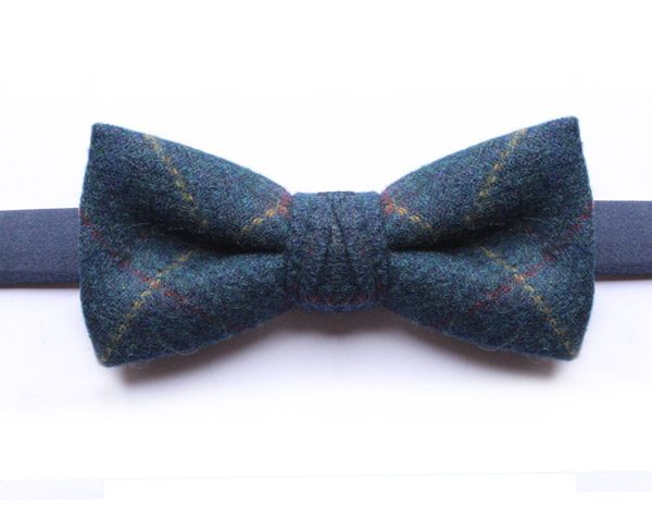 GREEN CHECK BOW TIE-0