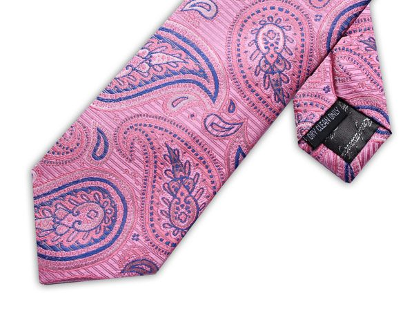 BABY PINK/BLUE PAISLEY XL TIE-0
