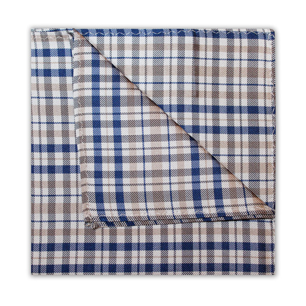 GREY/WHITE/BLUE CHECK SQUARE