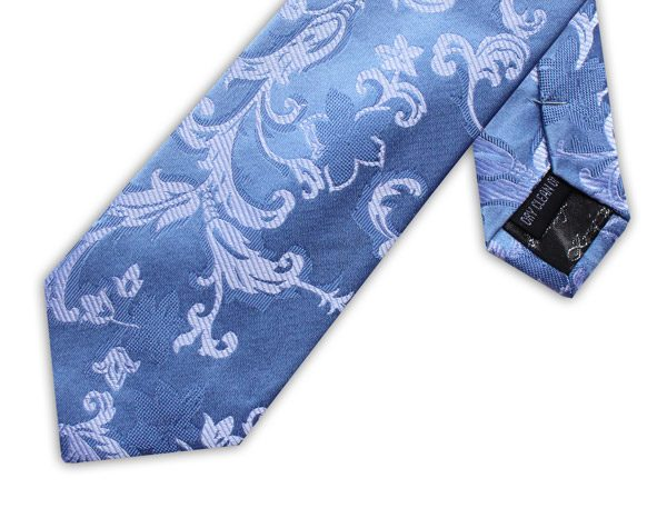 LIGHT BLUE FLORAL XL TIE-0