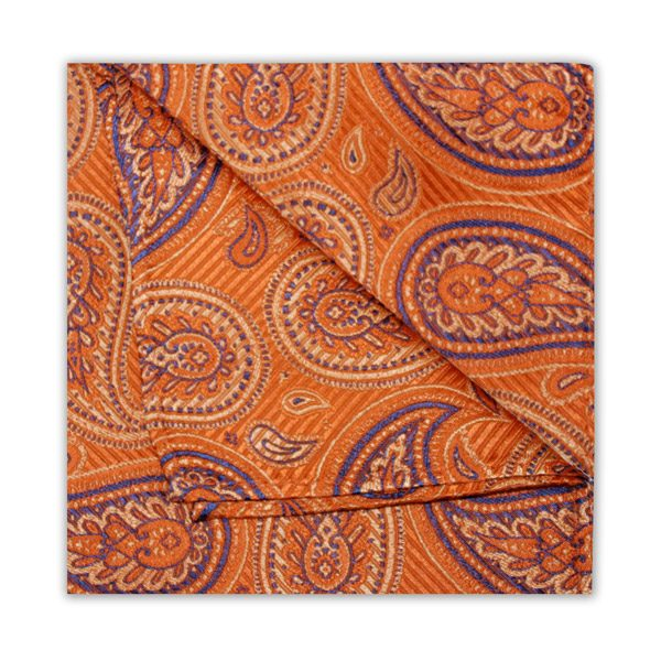 ORANGE/BLUE PAISLEY SQUARE-0