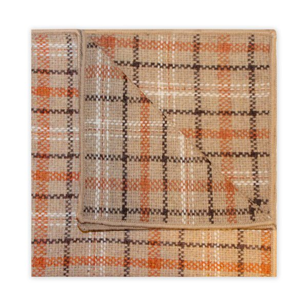 BROWN/ORANGE/BEIGE CHECK SQUARE-0