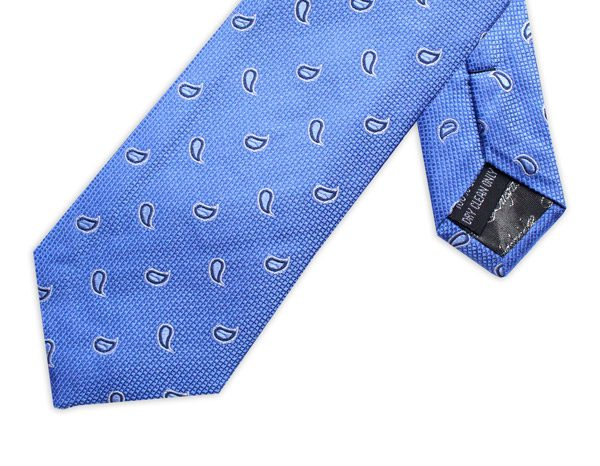 BLUE/NAVY Polka dot Paisley Tie-0
